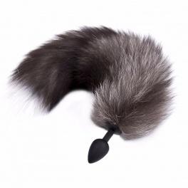 arctic fox tail silicone anal plug