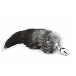 arctic fox tail metal anal plug big size