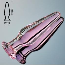 glass anal plug small pink