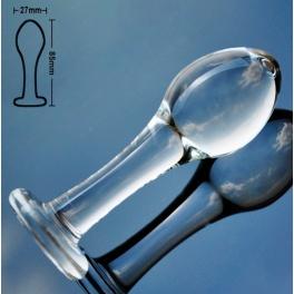 glass anal plug 8.5x2.7cm