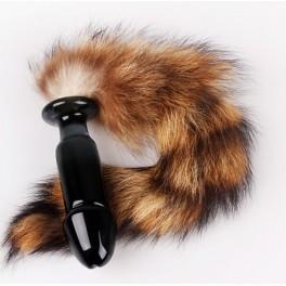 glass fox tail anal plug