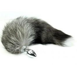 arctic fox tail metal anal plug