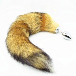 common fox tail metal anal plug