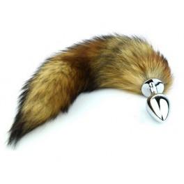 common fox tail metal anal plug big size