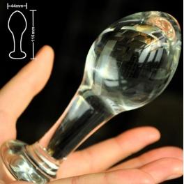glass anal plug 11.5x4.4cm