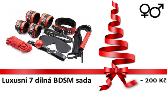 7 pcs plush bdsm set black and red